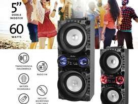 Parlante Bluetooth Kpb-221 Negro Y C/rojo