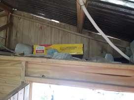 Vendo terreno y casilla con baño agua y luz colectivo ah una cuadra barrio ampliación 115 viviendas  lugar san Andrés