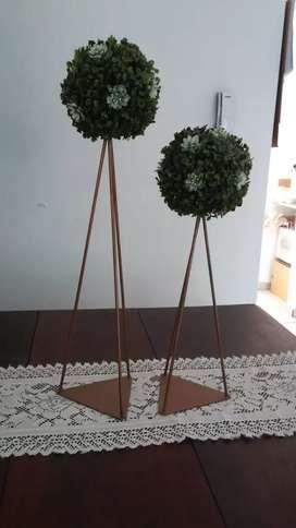 Toparios centro de mesa adornos