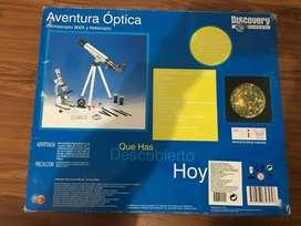 Microscopio 900x y Telescopio Discover