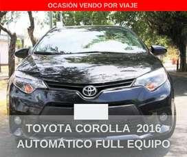 TOYOTA COROLLA 2016 AUTOMÁTICO FULL EQUIPO (35,000 KM)
