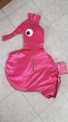 Disfraz- Caballito de mar para niña