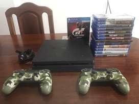 Vendo PS4 SLIM 1TB + 2 mandos + 9 juegos