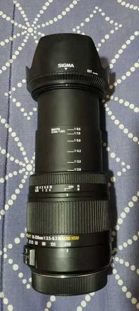 Lente sigma 18-250mm para canon