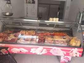 Nevera panoramica gondola para carnes