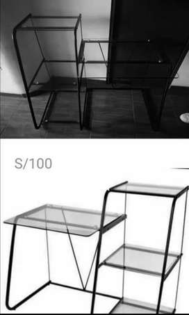 Escritorio de mesa de vidrio