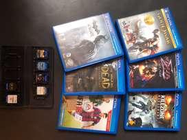 Juegos de psvita, 6 juegos con sus cajas orignales y con estuche portatil.