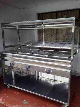 Vendo horno para asar 20 pollos,set servit de 4 bandejas de acero inxosifable termo para mantener ños pollos calientes