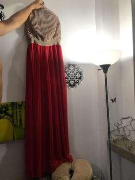 Vestido Vintage Beige Y Coral