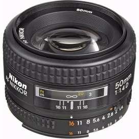 Lente Nikon - Nikkor 50mm 1.4d