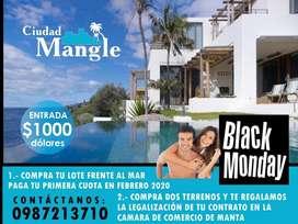 Proyecto Urbanización Ciudad Mangle, Venta De Lotes Con Credito Directo, Frente Al Mar Al Sur De Manta S1