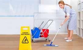 se solcita señorita para limpieza