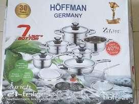 Ollas Acero Quirurgico Hoffman 21 Piezas Nuevas