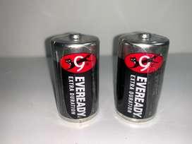 Pilas o baterías Eveready tamaño D grande