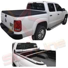 Carpa Plana Volkswagen Amarok Lona Con Marca Enrollable Riel Aluminio Camioneta Ref MC240 ¡Envío Gratis!