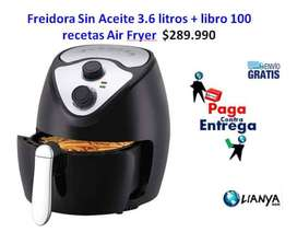 Freidora Sin Aceite 3.6 litros + libro 100 recetas Air Fryer