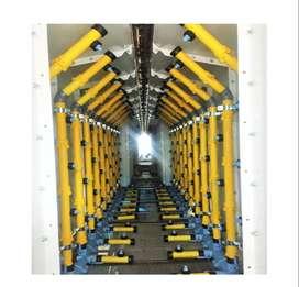 Túnel de aspersión para pre-tratado químico