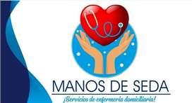 Servicios de enfermería domiciliaria manos de seda. Se acompaña su familiar y se cuidan niños donde ud lo solicite.