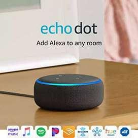 Parlante Echo Dot de Amazon. ALEXA