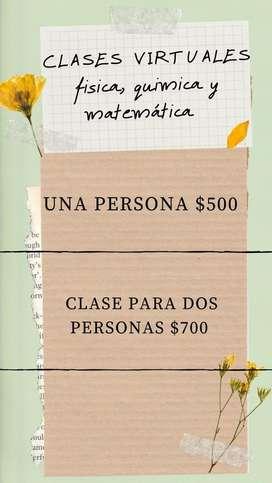 CLASES DE MATEMATICA,FISICA Y QUIMICA