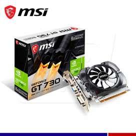 Se vende TARJETA DE VIDEO GRAFICA NVIDIA GT 730 2GB DDR3 128 BITS MSI