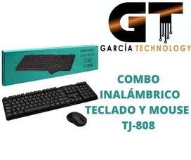 COMBO INALÁMBRICO TECLADO Y MOUSE TJ-808