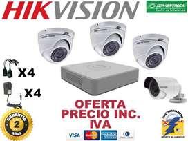 4 cámaras de seguridad instalación