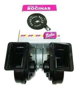 JUEGOS DE BOCINAS CARACOL - RALUX  12V