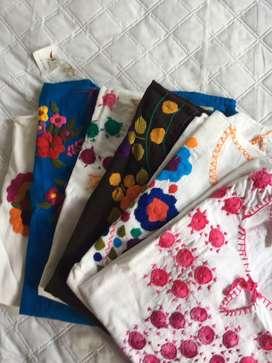 Hermosas Remeras de bordados Mexicanos! Unicas en Jujuy
