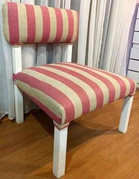 Silla tapizada, estilo matera