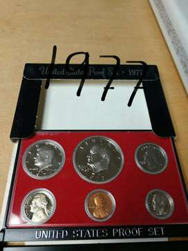 1977 Full Proof Set de Monedas Usa