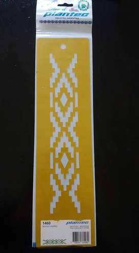 STENCIL PLANTEC MOTIVO ANDINO GUARDA PAMPA 24 x 5 cm