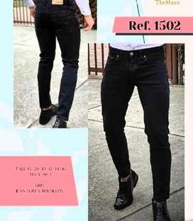 Pantalon jean negro