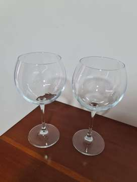 Vendo 2 copas en cristal grandes para Gin