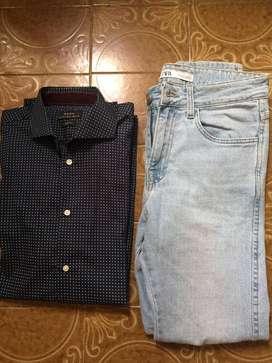 camisa y jean Zara