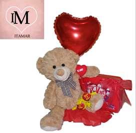 Peluche con lata de chocolates kit kat ideal para regalar!!!