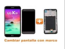 PANTALLA COMPLETA LG K10 2017 (NUEVA LCD + TACTIL) CON MARCO