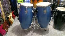Congas en Madera  Percusión con aro conform