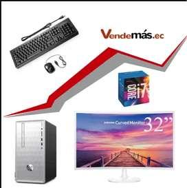 Computador 32 Pulgadas Cpu Hp I7 8va 8gb Optan 16gb Wifi 1tb