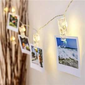 Luces LED ganchos para fotos guirnalda LED
