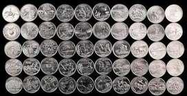 Coleccion de Monedas De 0.25 De Los 50 Estados