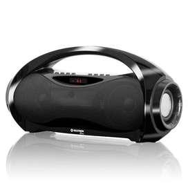 Radio Portatil Fm/usb Maxtron Sirius Mx203bt, Negro Bluetooth