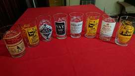 Vasos Retro Trago Largo Vidrio Importados Logo De Whisky segunda mano  Almagro, Capital Federal