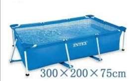 Piscina intex rectangular 300x200x75 de tubo nuevas