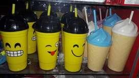 Vasos emojin y helado