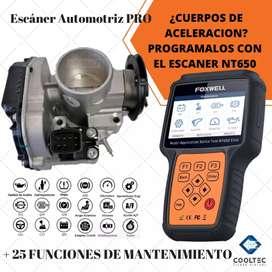 ESCANER AUTOMOTRIZ PROFESIONAL FOXWELL NT650 Cuerpos de aceleración ABS Airbag Frenos Dirección Aceite
