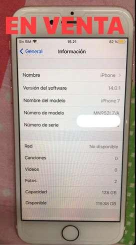 Vendo o Cambio por A71, iPhone 7 de 128 GB Bateria 100%