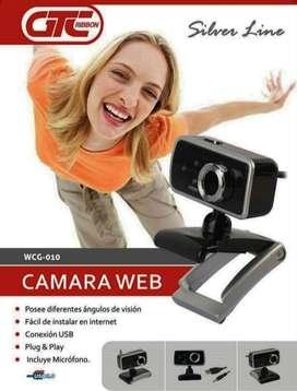 WEBCAM GTC RIBBON WCG-010 VIDEOCONFERENCIA MICROFONO INCORPORADO