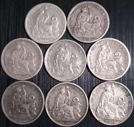 Monedas 1 dino plata 9 decimos