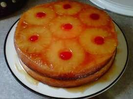 Torta de Piña o torta volteada.